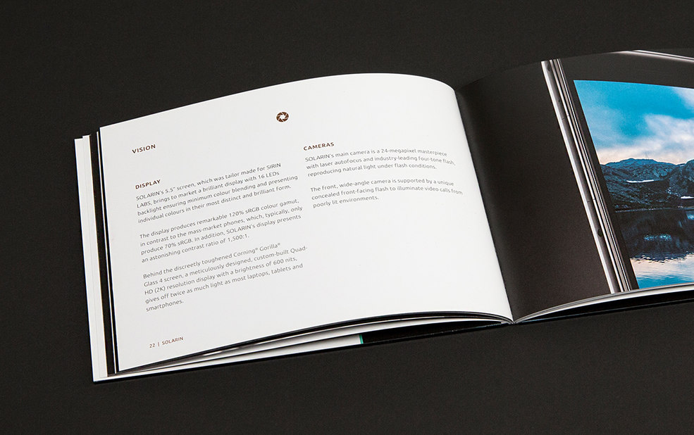 brochure spread – Sirin Labs – point one percent