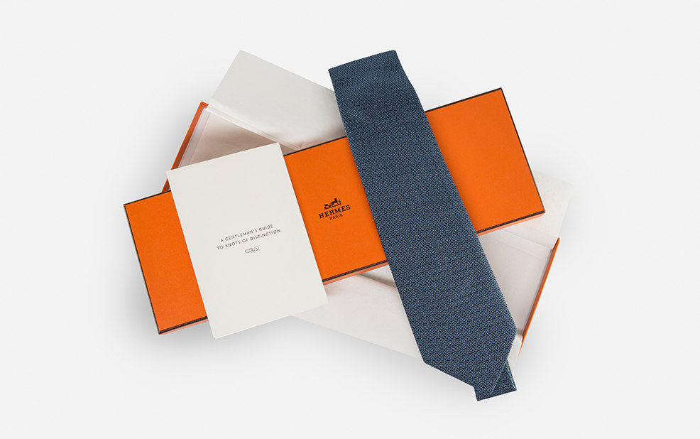 Hermes custom Tie and box – Flexjet – Point one percent