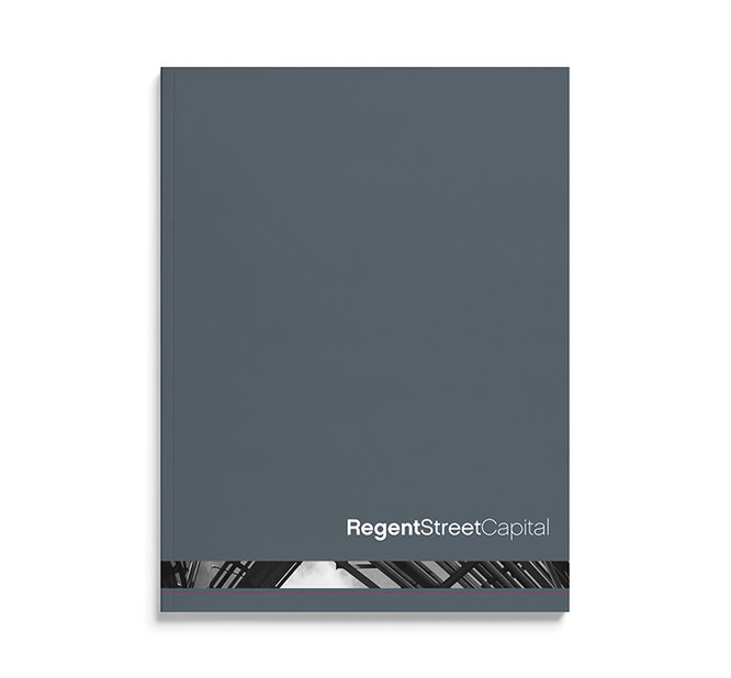 printed collateral design - regent street capital - point one percent